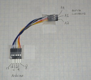 M60 PA, A1, A2 maps to Arduino 10, 8, 9 respectively